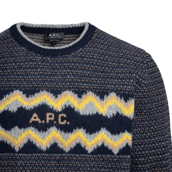 Maglione blu con logo                                                                                                                                  A.P.C.                                             A.P.C.