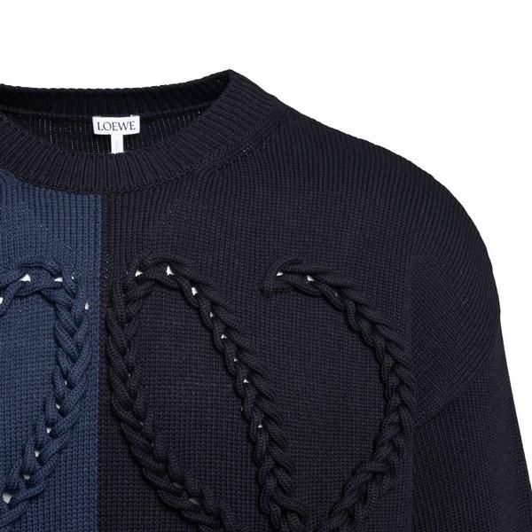 Dark blue sweater with logo embroidery                                                                                                                 LOEWE