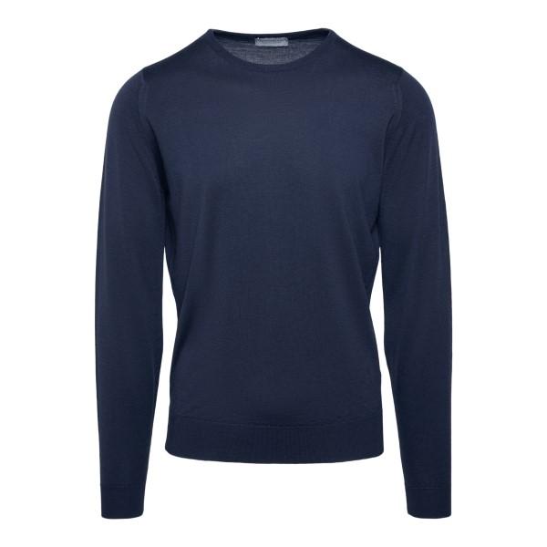 Maglione leggero in colore blu navy                                                                                                                   John Smedley HATFIELD retro