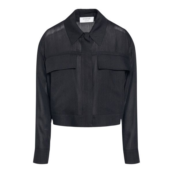 Black shirt with pockets                                                                                                                              Sportmax HOLIDAY back