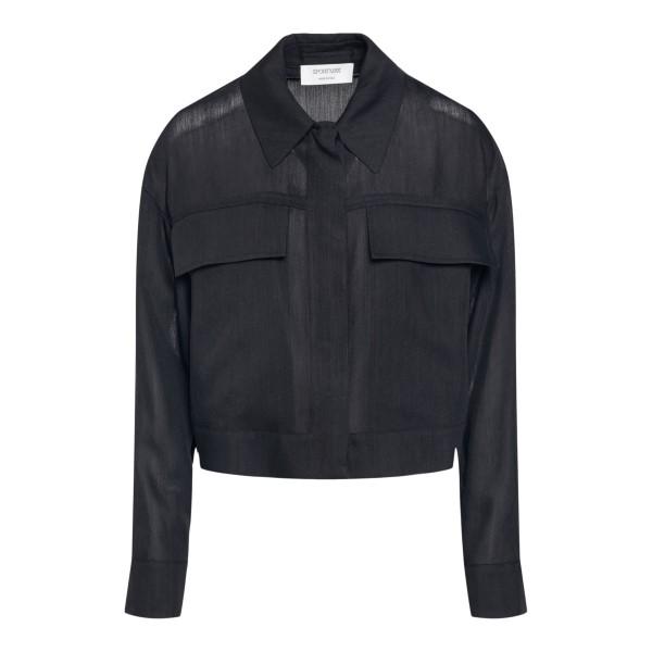 Camicia nera con taschine                                                                                                                             Sportmax HOLIDAY retro