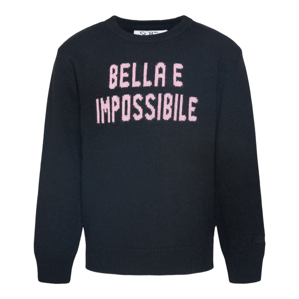 Maglione nero Bella e Impossibile                                                                                                                     Saint Barth IMPOSSIBILE00 retro