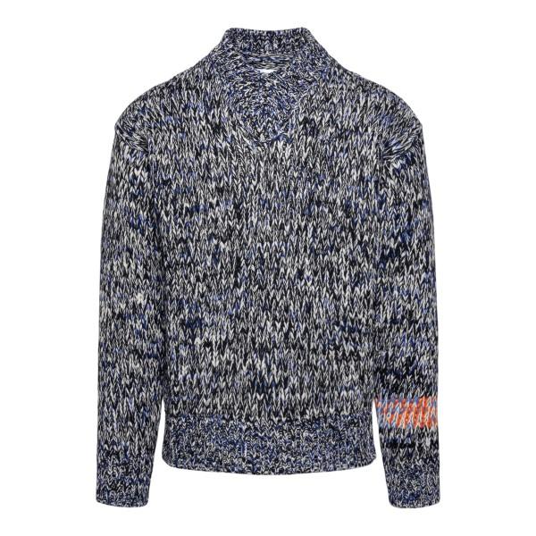 Maglione grigio con dettagli multicolore                                                                                                              Jil Sander JSMT751027 retro