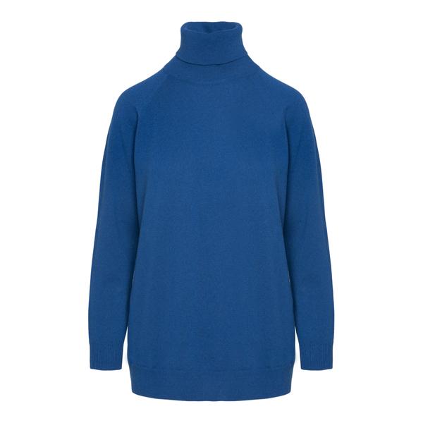 Blue turtleneck sweater                                                                                                                               Drumohr L1K404 back