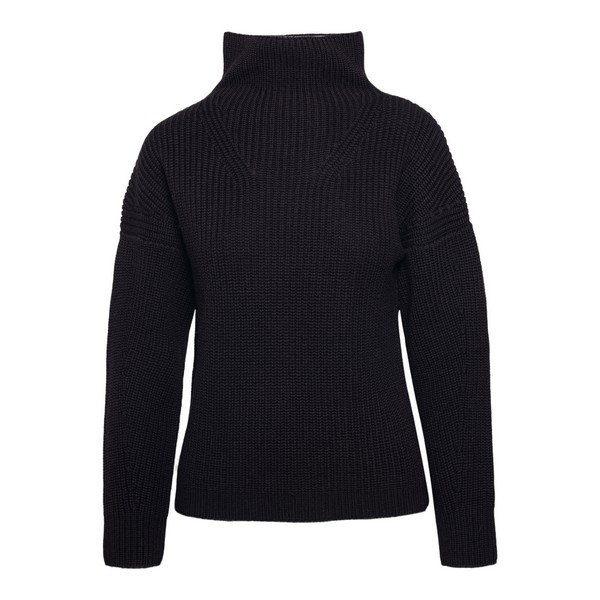 Black sweater with stand-up collar                                                                                                                    Drumohr L5M105PP front