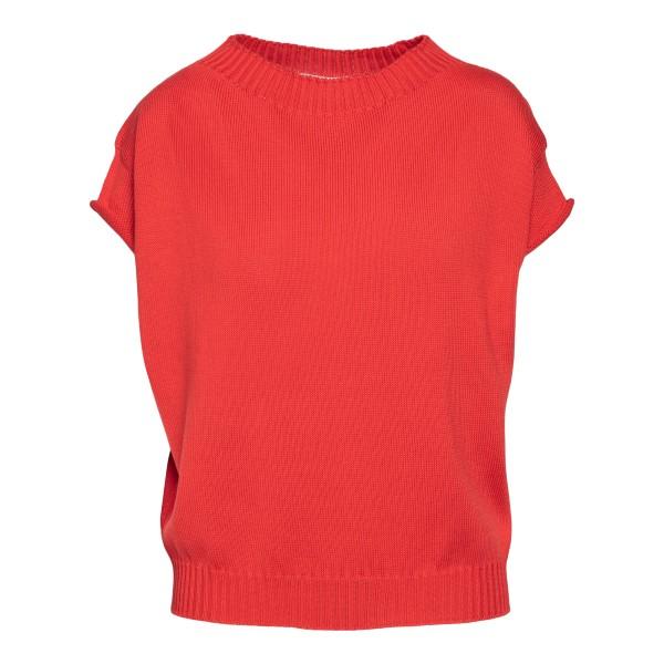 Top rosso in maglia                                                                                                                                   Drumohr L8C464 retro