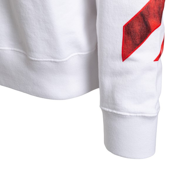 White sweatshirt with painted print                                                                                                                    OFF WHITE