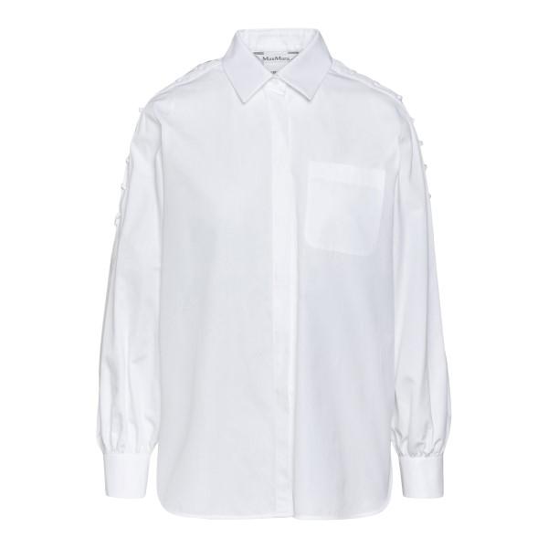 Camicia bianca con lacci laterali                                                                                                                     Max Mara OSTEO retro