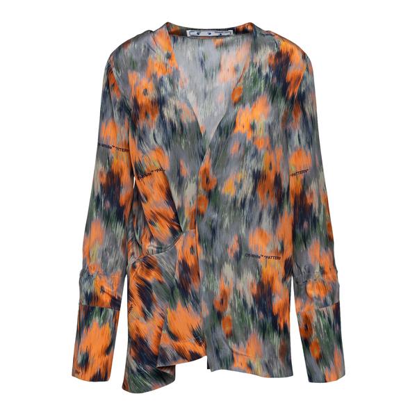 Blusa multicolore a fiori effetto dipinto                                                                                                             Off White OWGA104F21FAB002 retro
