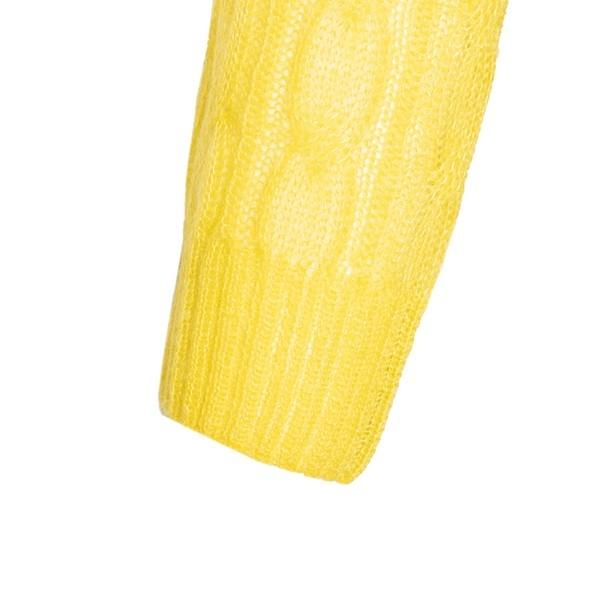 Maglioncino giallo a trecce                                                                                                                            PRADA                                              PRADA