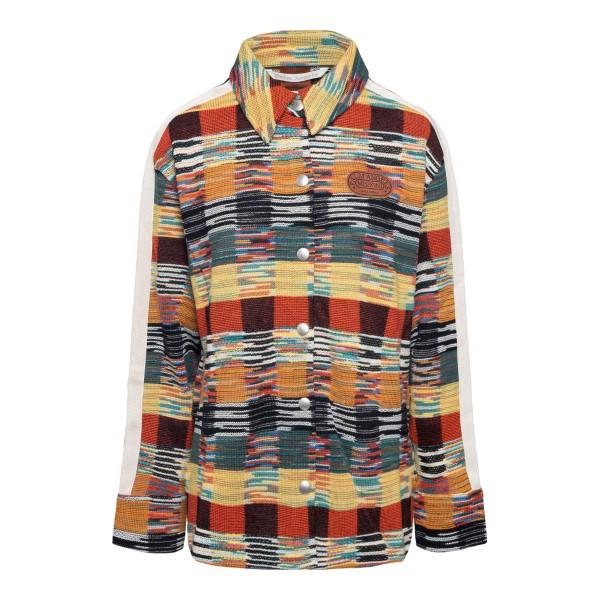 Multicolored checked shirt                                                                                                                            Palm Angels X Missoni PWHA026F21KNI001 back
