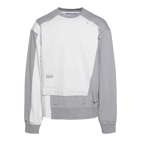 Two-tone sweatshirt with a worn effect                                                                                                                C2h4 R004HD042 back