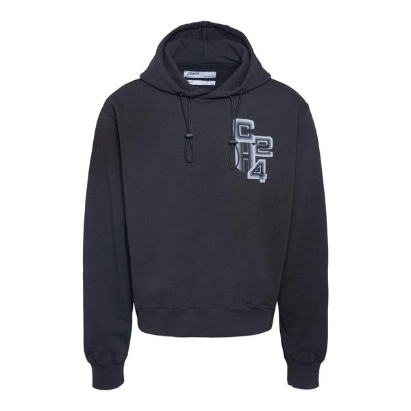 Black sweatshirt with logo                                                                                                                            C2h4 R004HD057 back
