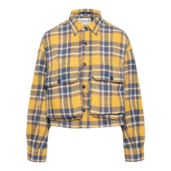 Yellow checked crop shirt                                                                                                                             R13 R13WR014 back