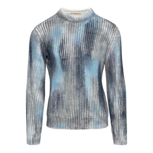 Maglione multicolore effetto tie-dye                                                                                                                  Roberto Collina RE46001 retro