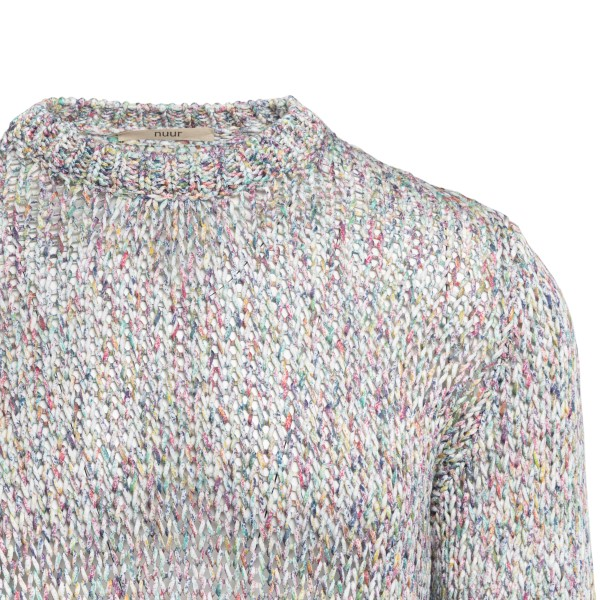 Grey sweater with multicolored threads                                                                                                                 ROBERTO COLLINA
