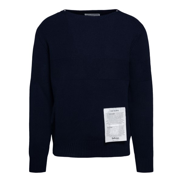 Maglione blu classico                                                                                                                                 Ballantyne S2P081 retro