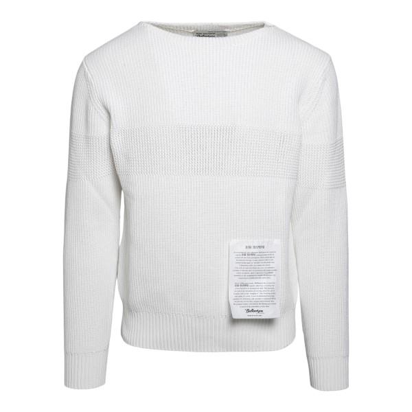 Maglione bianco classico                                                                                                                              Ballantyne S2P081 retro