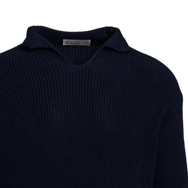 Maglione blu con colletto                                                                                                                              BALLANTYNE                                         BALLANTYNE
