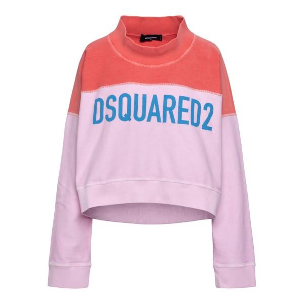 Felpa bicolore con nome brand                                                                                                                         Dsquared2 S75GU0385 retro