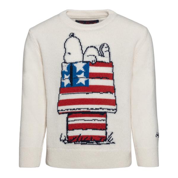Maglione bianco con Snoopy                                                                                                                            Saint Barth SNOOPYUSA10 retro