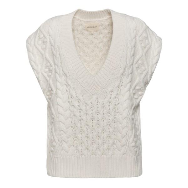 White knitted vest                                                                                                                                    Loulou Studio TORRETA back