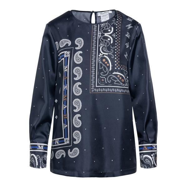 Dark blue blouse with paisley print                                                                                                                   Max Mara TUONO back