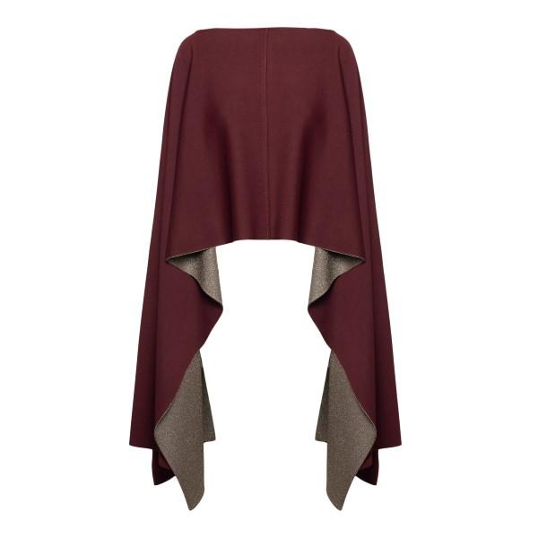Red asymmetrical cape                                                                                                                                 Valentino VB3KS00P back