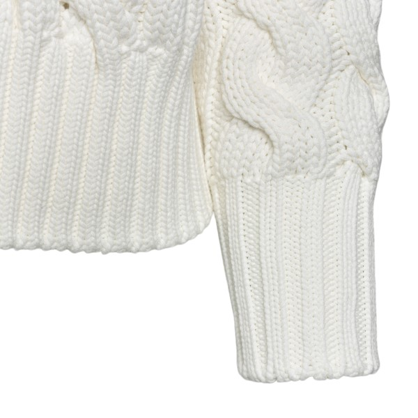 Maglione bianco con design intrecciato                                                                                                                 SPORTMAX                                           SPORTMAX