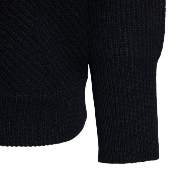 Maglione nero con logo a V                                                                                                                             RED VALENTINO                                      RED VALENTINO