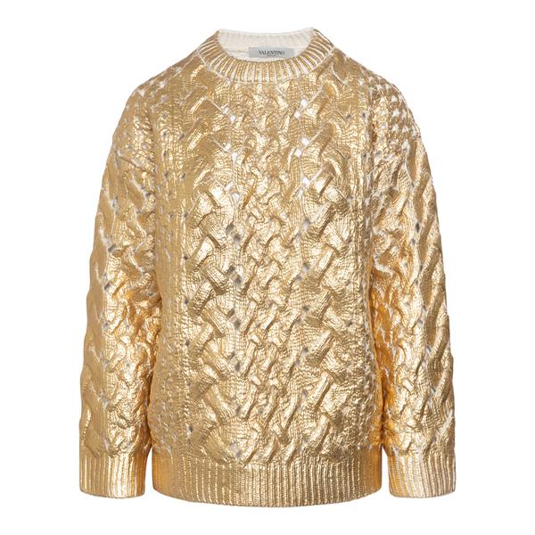 Metallic gold sweater                                                                                                                                 Valentino WB0KC27N back