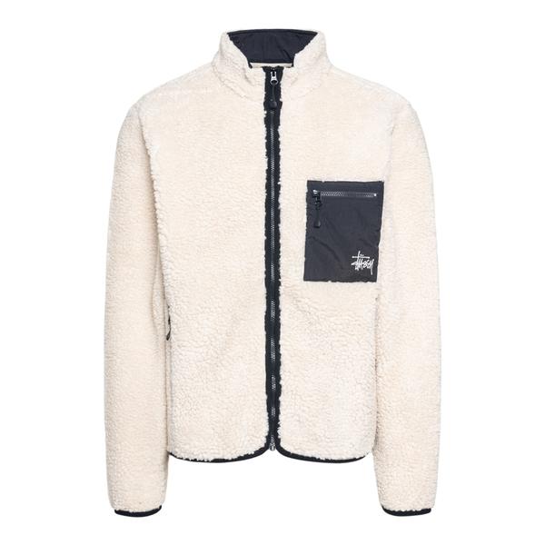 Sherpa jacket with back print                                                                                                                         Stussy 118437 back
