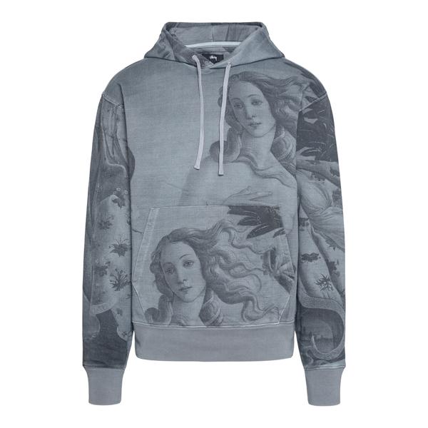 Grey sweatshirt with Venere print                                                                                                                     Stussy 118439 back