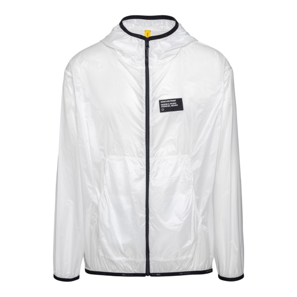 White waterproof jacket with print                                                                                                                    Moncler Fragment 1A00023 back