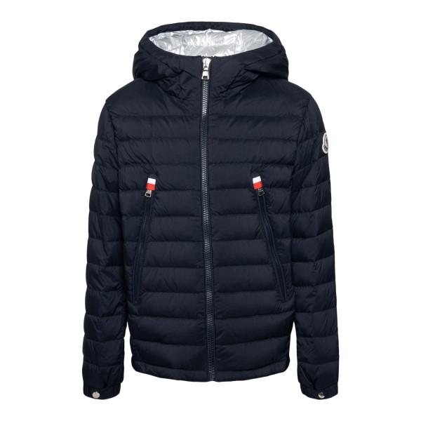 Blue down jacket with logo patch                                                                                                                      Moncler 1A13820 back