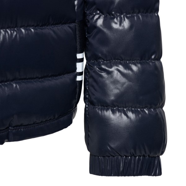 Blue down jacket with logo print                                                                                                                       MONCLER