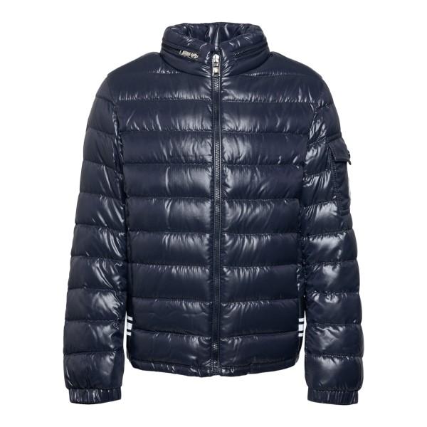 Dark blue down jacket with logo print                                                                                                                 Moncler 1A50N20_ back