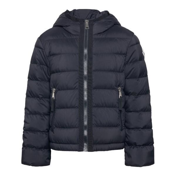 Black down jacket with side logo                                                                                                                      Moncler 1A50P10 back