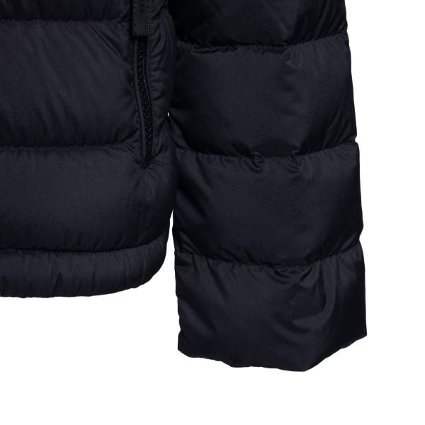 Black down jacket with side logo                                                                                                                       MONCLER