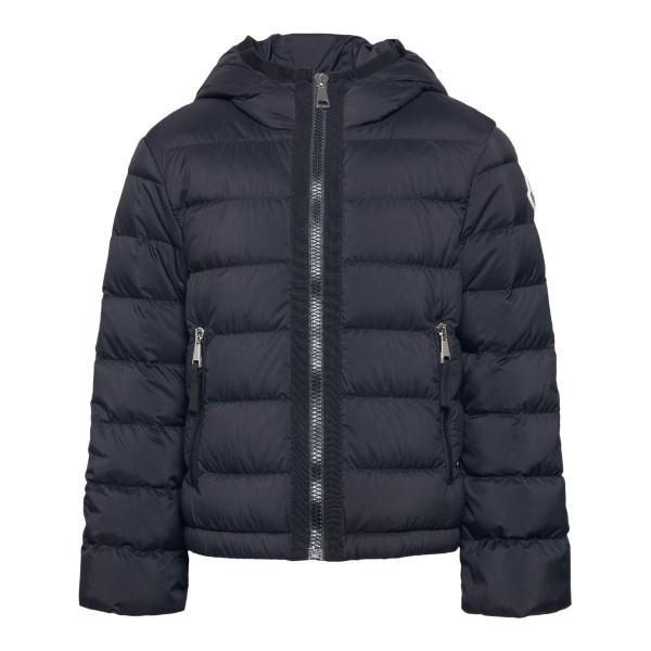 Black down jacket with side logo patch                                                                                                                Moncler 1A50P10_ back