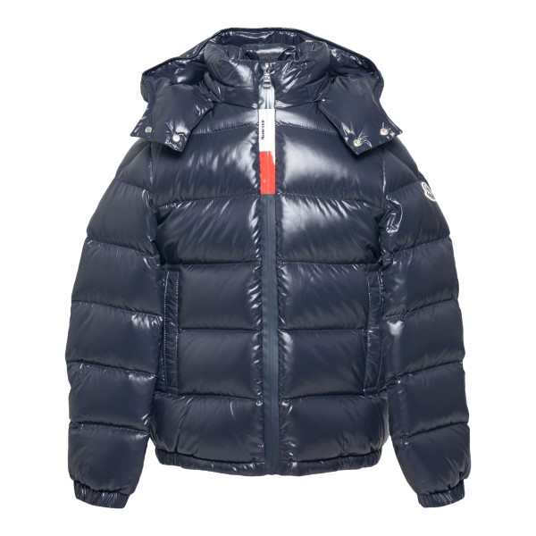 Blue down jacket with band detail                                                                                                                     Moncler 1A54320 back
