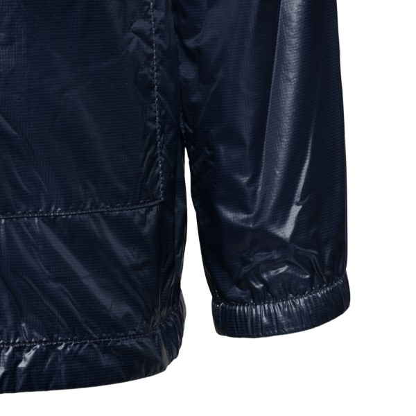 Blue waterproof jacket with logo                                                                                                                       MONCLER