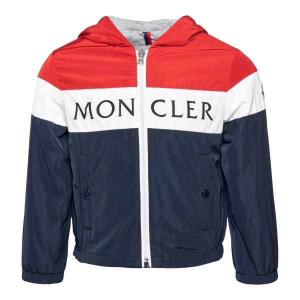 Giacca blu e rossa con logo                                                                                                                           Moncler 1A71320 retro