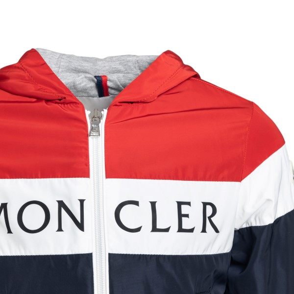 Blue and red jacket with logo                                                                                                                          MONCLER