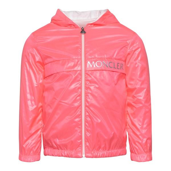 Giacca rosa impermeabile con logo argento                                                                                                             Moncler 1A71910_ retro