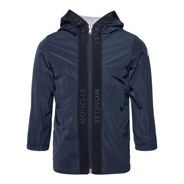 Dark blue jacket with band detail                                                                                                                     Moncler 1C70320 back
