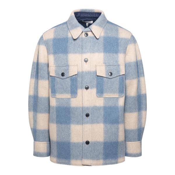Giacca a camicia blu e bianca                                                                                                                         Isabel Marant VE1623 retro