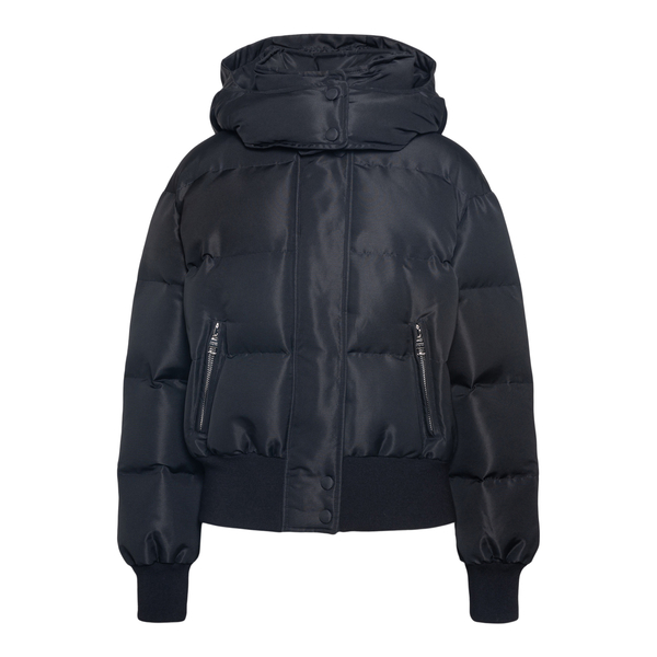 Black down jacket with brand name print                                                                                                               Alexander Mcqueen 672752 back