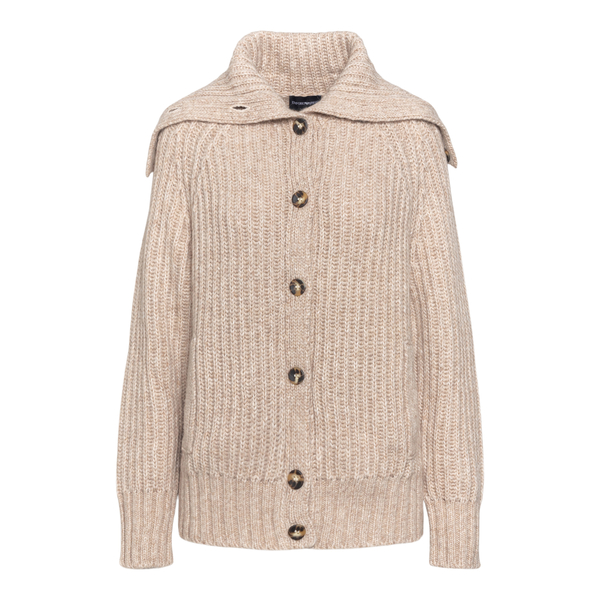 Beige cardigan with cape detail                                                                                                                       Emporio Armani 6K2BW2 back