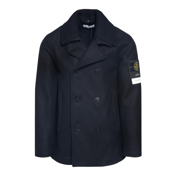 Double-breasted coat with lapel collar                                                                                                                Stone Island 7515436 back